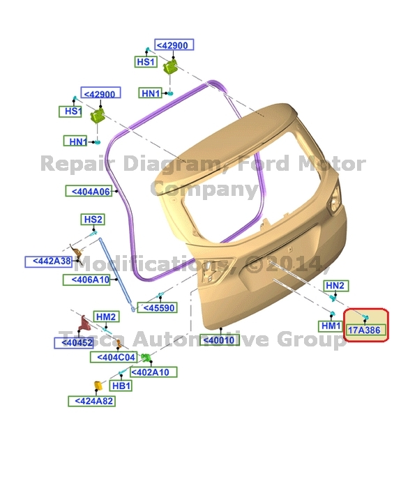NEW OEM LICENSE PLATE BRACKET SCREW KIT FORD MERCURY VEHICLES #6F9Z-17A386-AA
