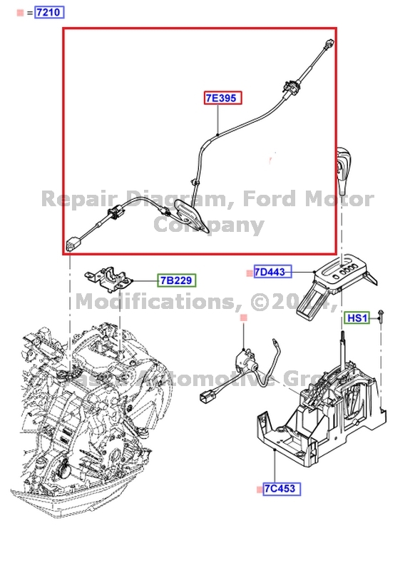Amazing New Oem Cvt Transmission Shift Cable Ford Freestyle Five Hundred Wiring Cloud Oideiuggs Outletorg