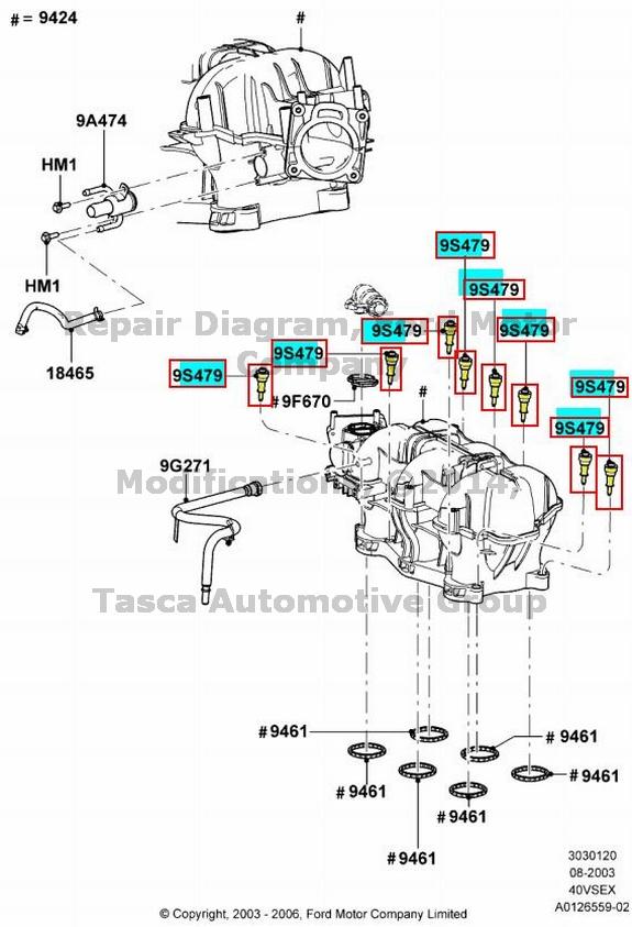 New Oem Intake Manifold Isolator Ranger Explorer Sport Trac. Ford. 2003 Ford Explorer 4 0 Intake Diagram At Scoala.co