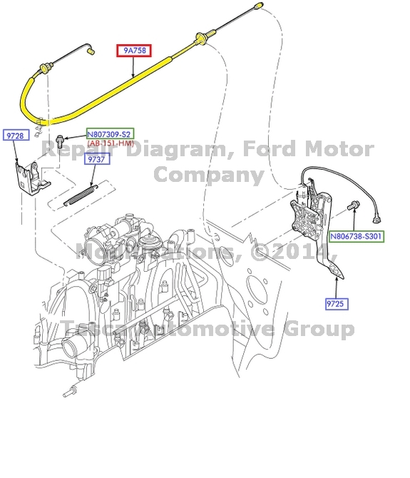brand new oem throttle control cable ford 1999