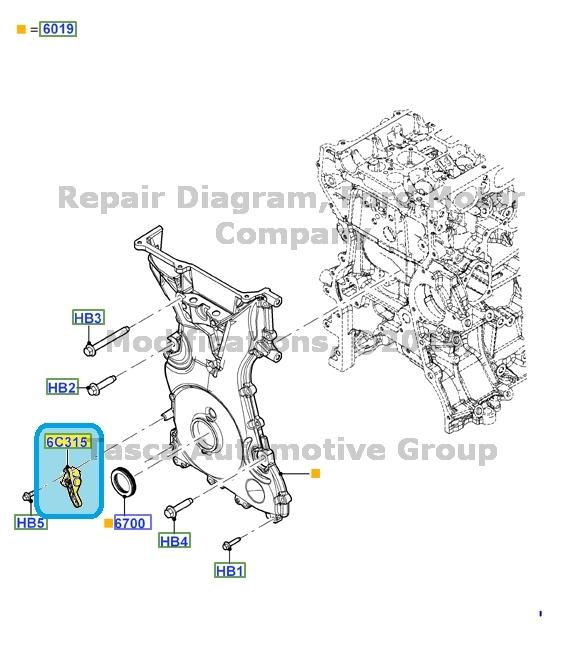 brand new oem crankshaft position sensor ford lincoln