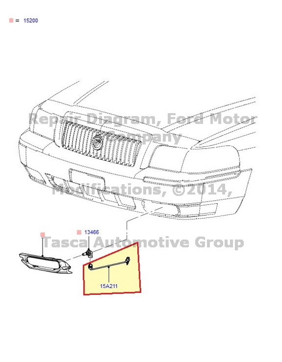 New Oem Fog Light Wiring Harness 2006 2011 Mercury Grand Marquis