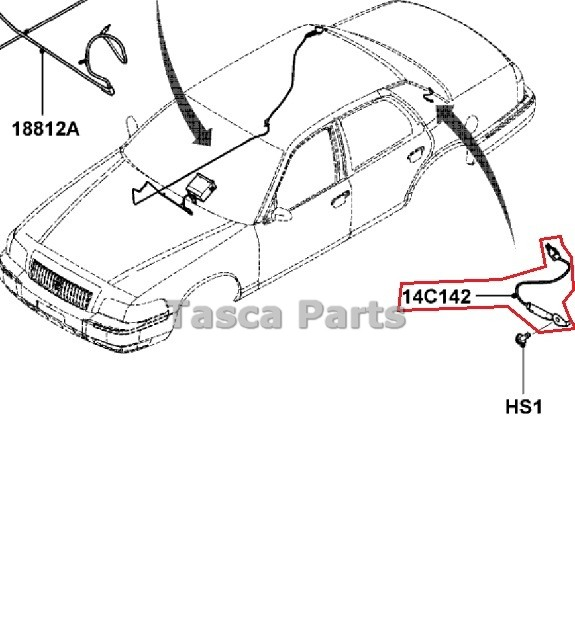 new oem antenna coil wire 2006 2011 ford crown victoria. Black Bedroom Furniture Sets. Home Design Ideas