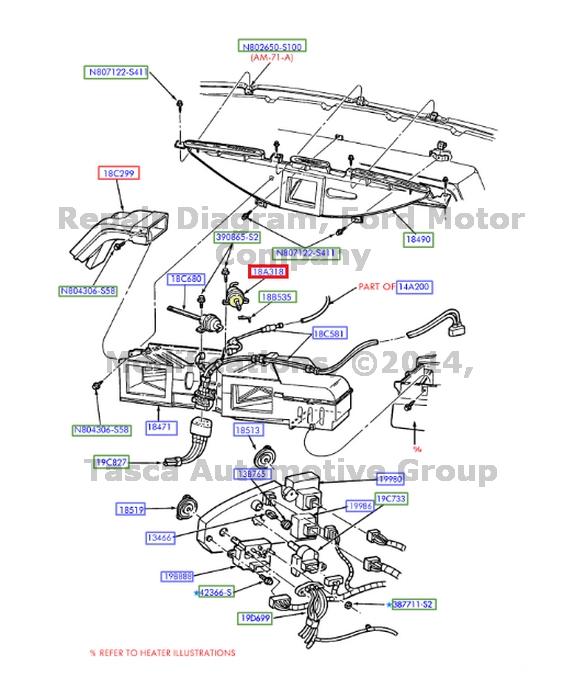 BRAND NEW OEM HEATER    VACUUM    CONTROL MOTOR 200611    CROWN