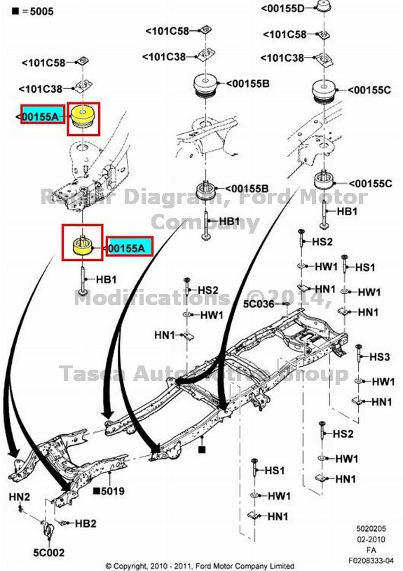 ford f650 rear suspension diagram