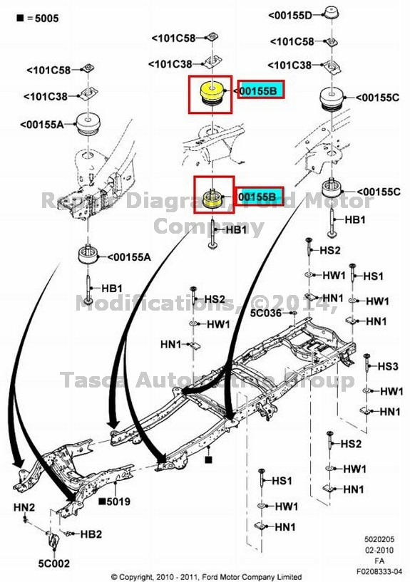 BRAND NEW OEM CHASSIS FRAME LOWER INSULATOR 2008-13 FORD
