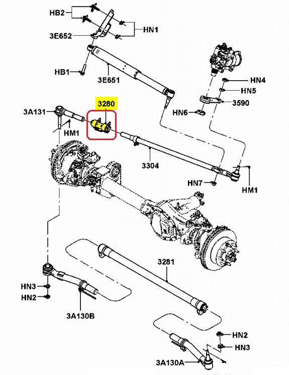 F250 Tie Rod Diagram