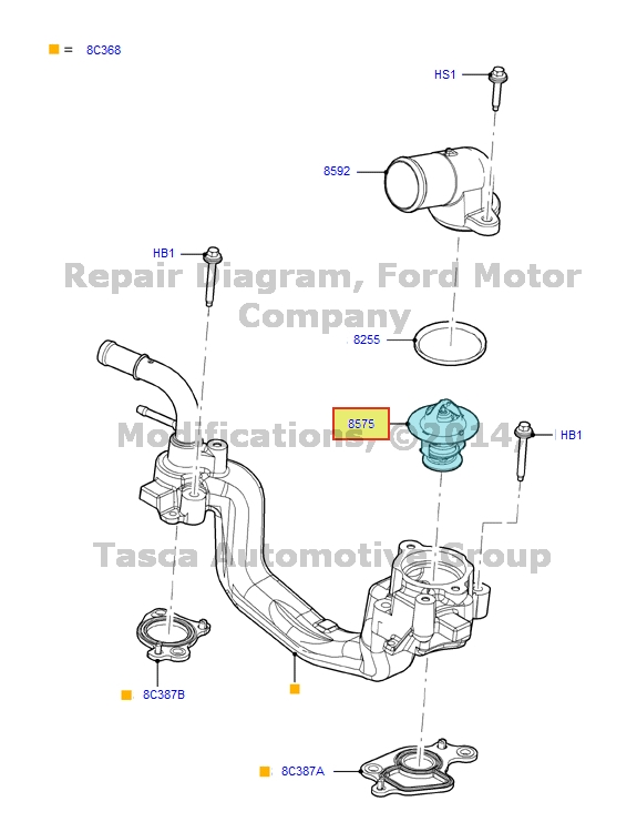 New Oem Engine Coolant Thermostat 68l V10 Ford Econoline F250. Newoemenginecoolantthermostat68lv10. Ford. Ford E 250 Termostate Diagram At Guidetoessay.com