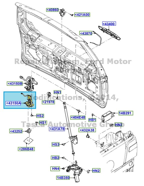 E150 Rear Door Latch Diagram