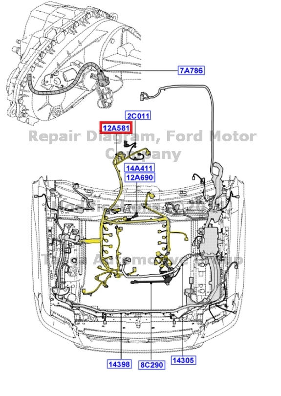 NEW OEM ENGINE   TRANSMISSION WIRE ASSEMBLY FORD MERCURY