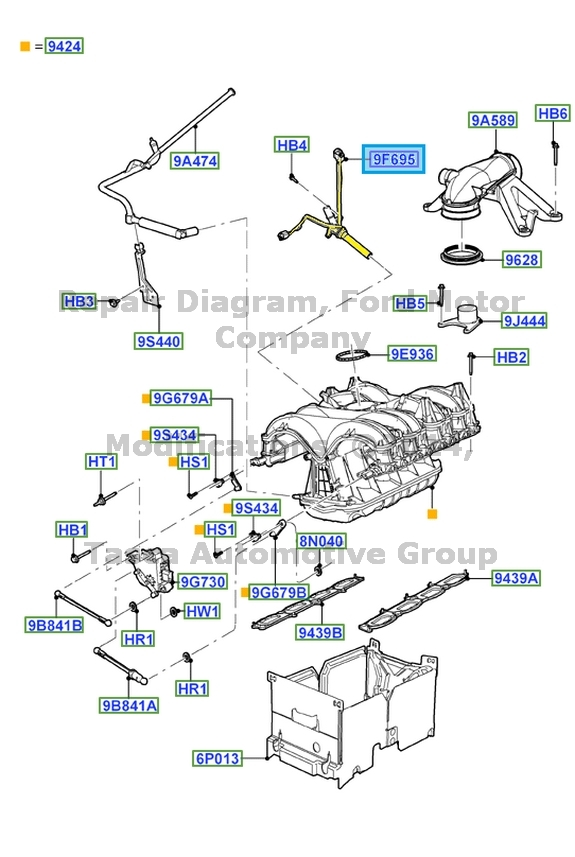 2007 f150 engine diagram new oem    engine    ventilation tube 2004 2009 expedition    f150     new oem    engine    ventilation tube 2004 2009 expedition    f150