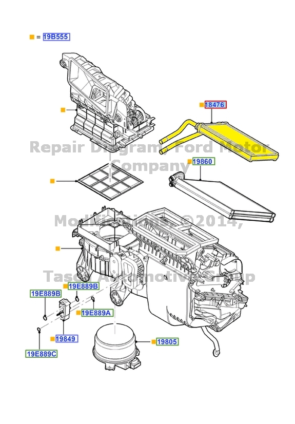 Brand New Oem Heater Core Wseal 20072013 Ford Edge Lincoln Mkx Rhebay: Ford Edge Heater Core Location At Gmaili.net