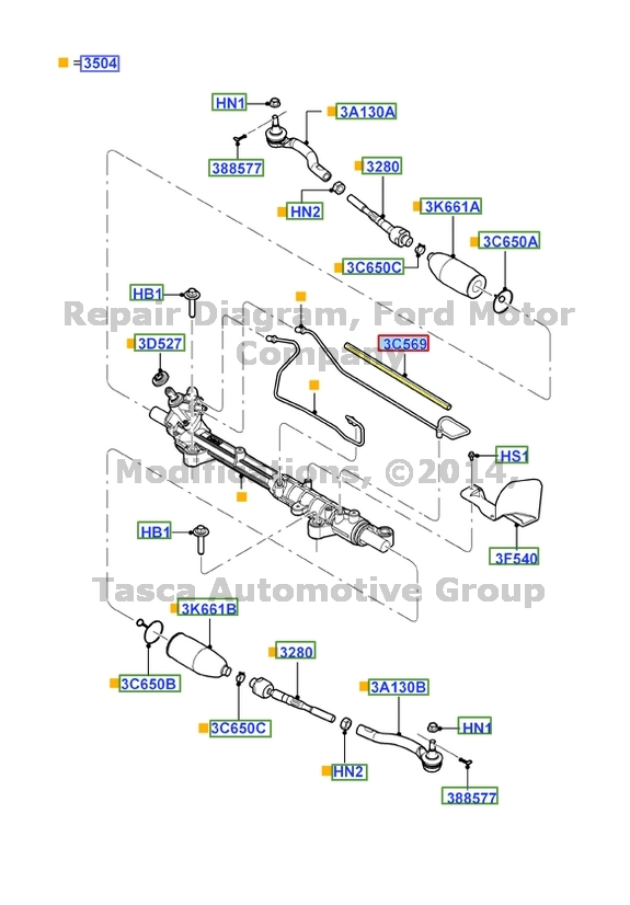Brand New Oem Steering Gear Rack Pinion Shield 20072013 Ford Edge Rhebay: Ford Rack And Pinion Schematic At Gmaili.net