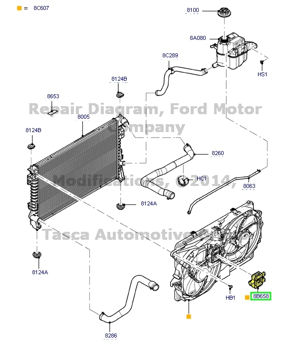 New Oem Engine Cooling Fan Relay Ford Flex Edge Lincoln Mks Mkx Rhebay: Ford Flex Engine Schematic At Taesk.com