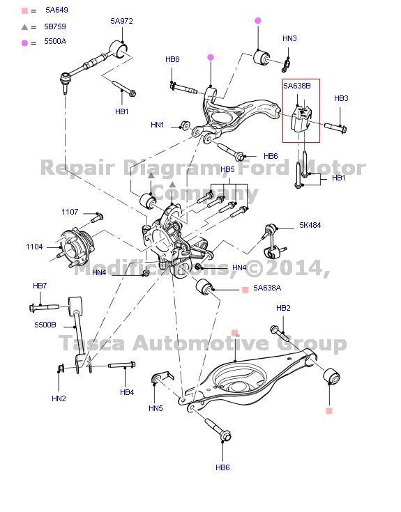 Brand New Oem Rear Suspension Arm Bushing Lincoln Mks Mkt Ford Flex