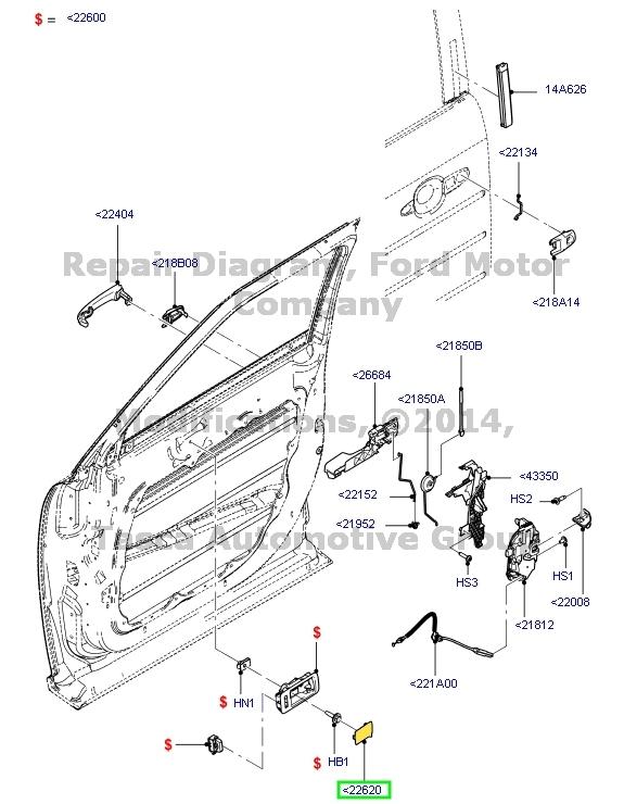 2013 Ford Focus Door Latch Diagram