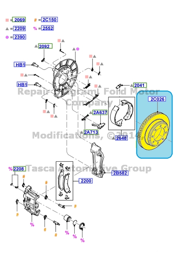 Ford E350 Rear Brake Diagram
