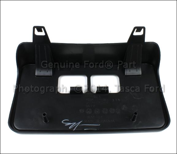 New Oem Black Front License Plate Bracket 2008-2010 Ford F250 F350 F450 F550