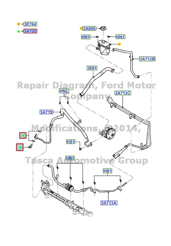 New Oem Power Steering Banjo Bolt 20062013 Ford Edge Lincoln Mkx. Ford. 2008 Ford Edge Power Steering Schematic At Scoala.co