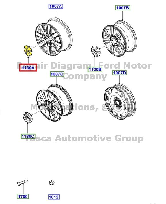 new oem 17 u0026quot  x 7 u0026quot  wheel rim ford logo center cap 2008