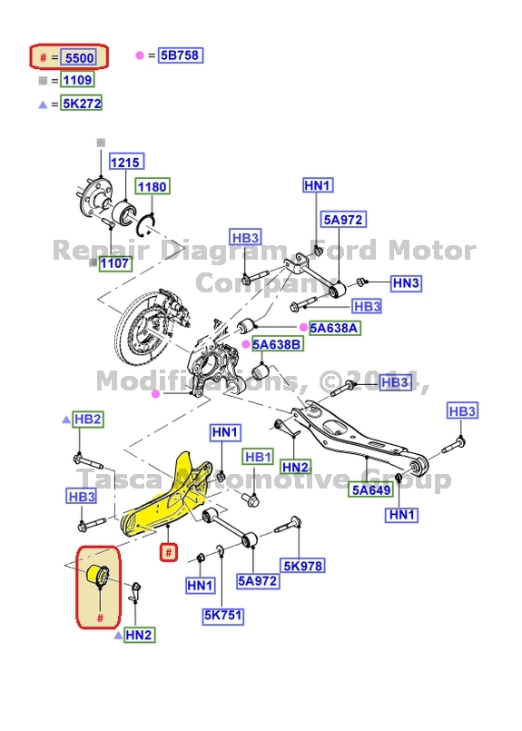 Details About NEW OEM RH SIDE REAR TRAILING ARM 2007 2010 EXPLORER SPORT TRAC MOUNTAINEER