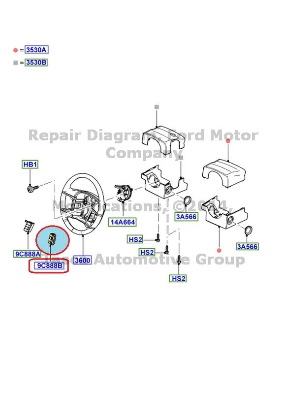 brand new oem rh cruise control switch black ford mercury