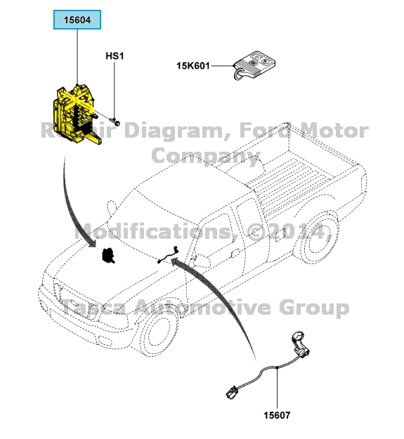 new oem smart junction box ford ranger with keyless entry