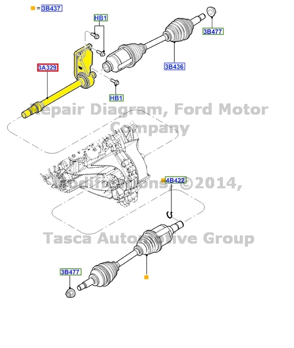 OEM FRONT AXLE SHAFT 2006-2011 FORD FOCUS W/MANUAL