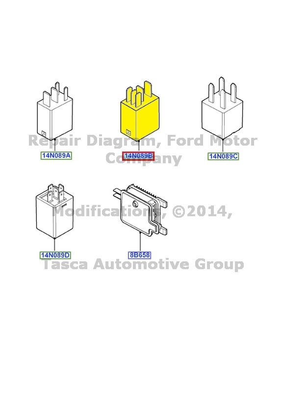 new oem multi function 40 amp 5 blade relay ford lincoln mercury  8t2z