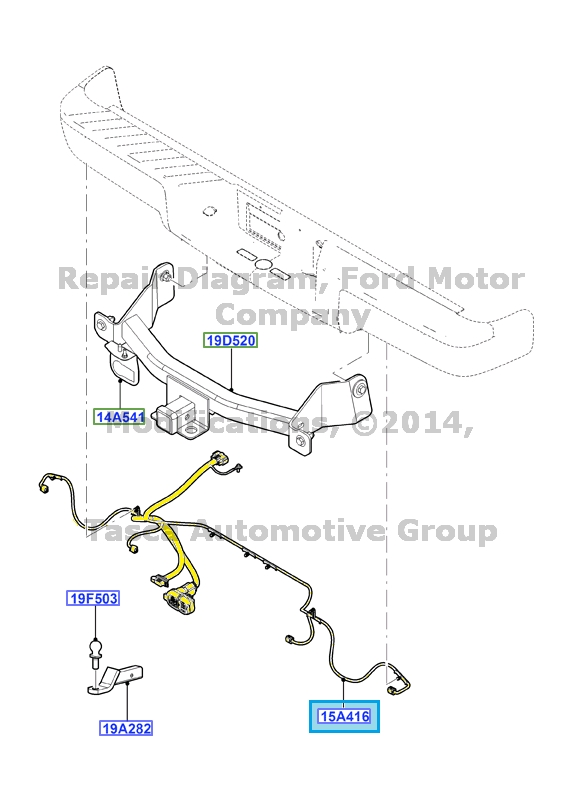 NEW OEM TRAILER HITCH TOW BAR WIRING HARNESS 2009-2011