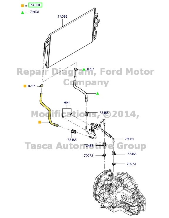 ford escape transmission diagram