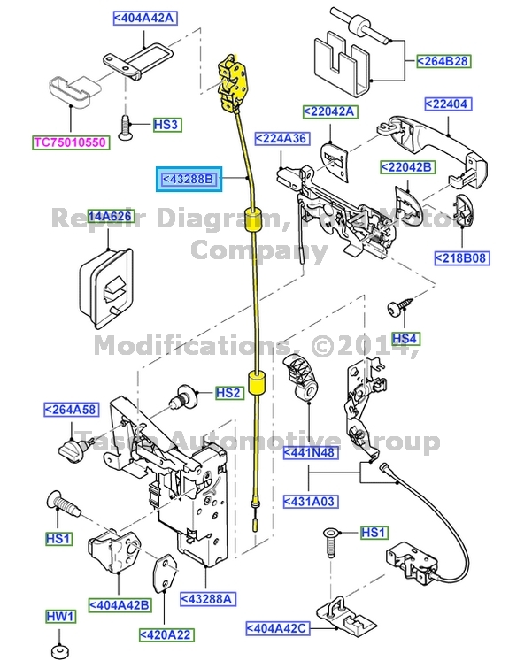 New Oem Right Side Rear Door Latch 10 15 Ford Transit
