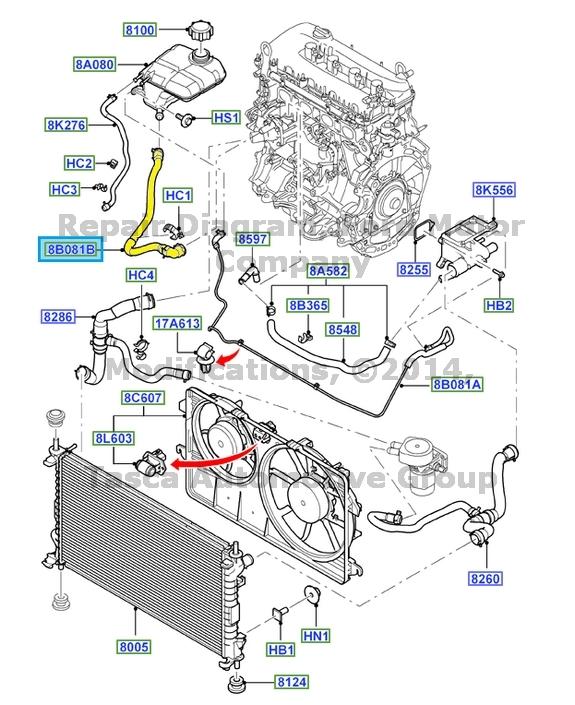 Brand New Oem Radiator Coolant Overflow Hose 20102014 Ford