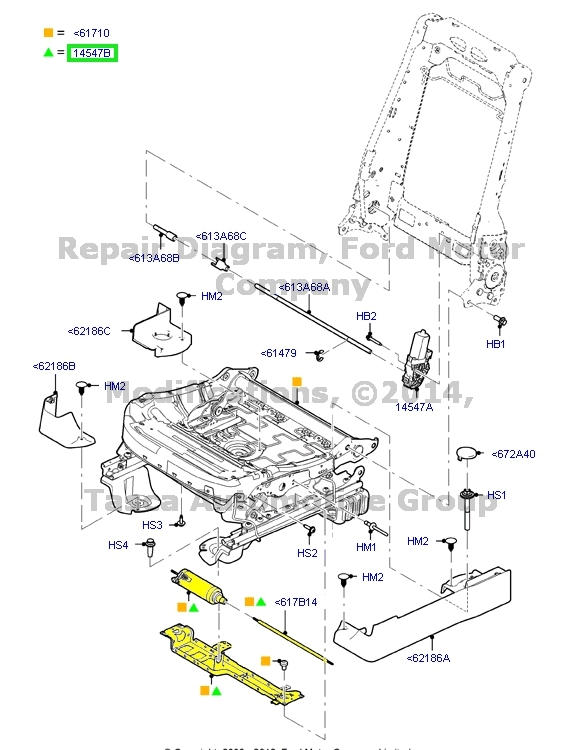 new front driver seat horizontal adjustment motor