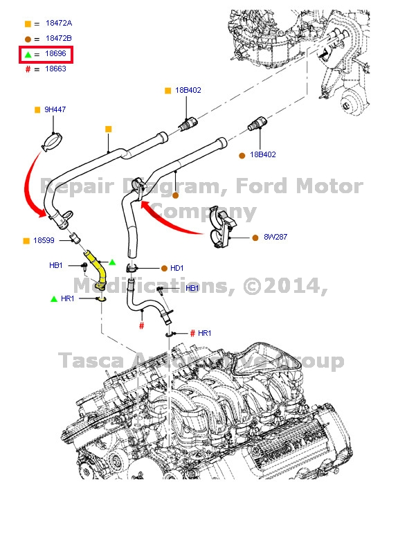 1999 f350 heater diagram oem heater core outlet water tube 2010-2013 ford f150 f250 ...