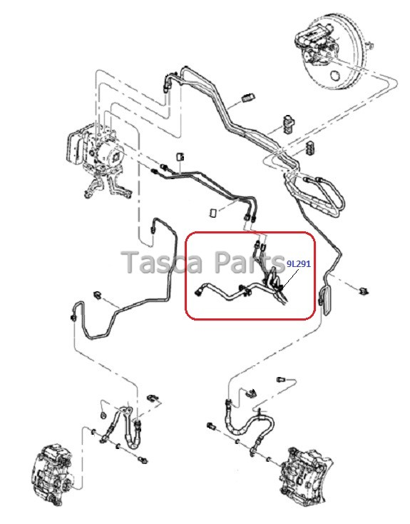 new oem brake and fuel line tube assembly 2011