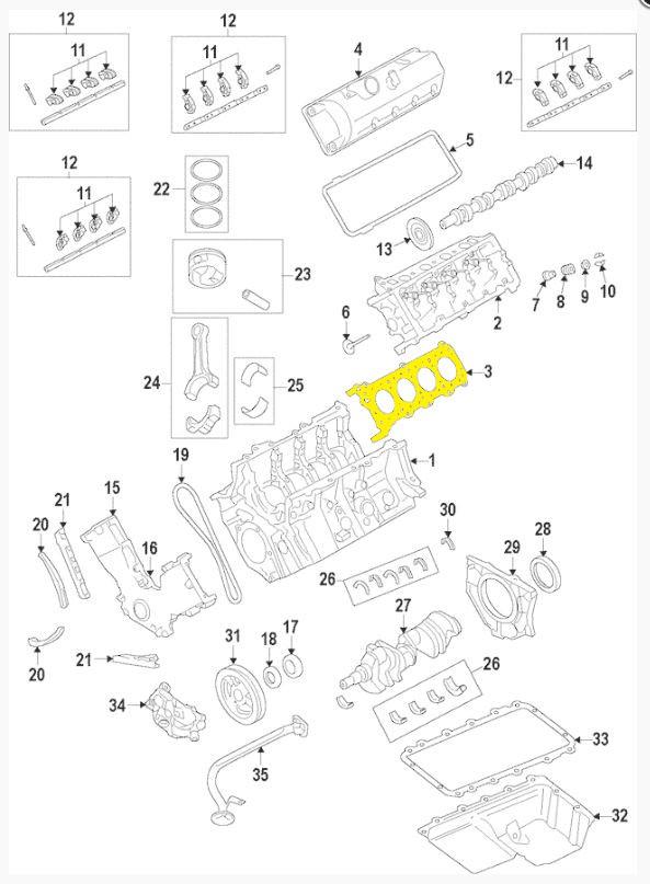 F150 Cylinder Diagram