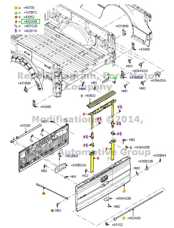 Brand New Oem Rear Tailgate Step Kit 2011