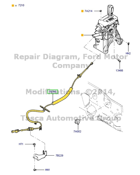 NEW OEM AUTO TRANSMISSION SHIFT LEVER CABLE 2010-12 FORD