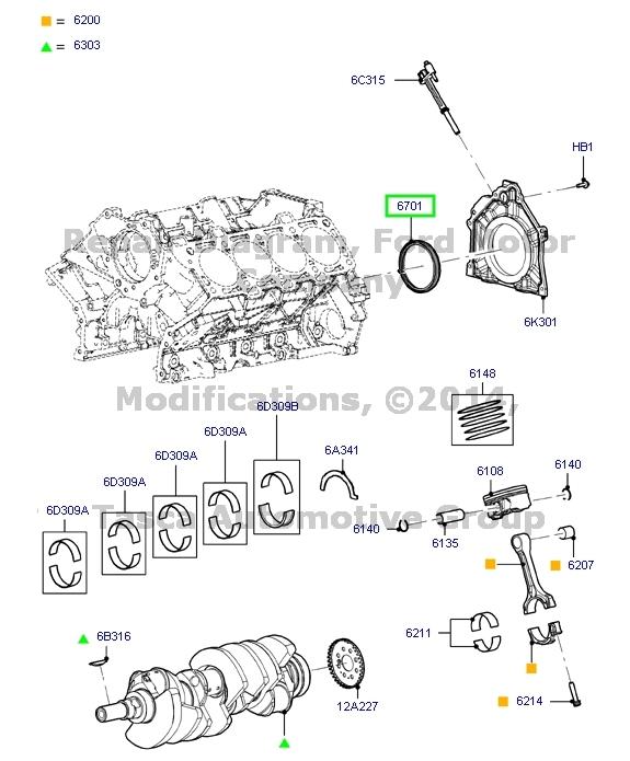new oem rear crankshaft oil seal 2007 2015 ford lincoln mercury 1950 Lincoln Zephyr new oem rear crankshaft oil seal 2007 2015
