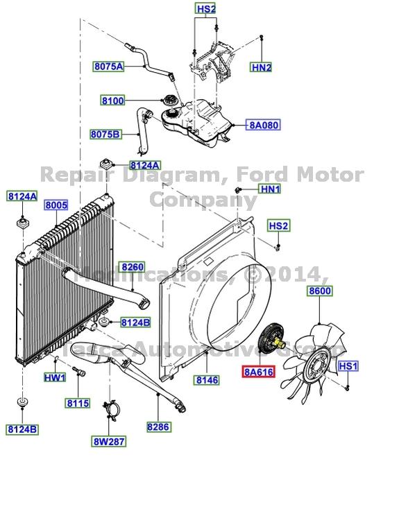 new oem radiator fan clutch w / ac 5 4l v8 2005 f250 f350 f450 f550
