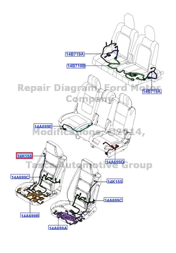 new oem lh front seat side air bag wiring harness ford. Black Bedroom Furniture Sets. Home Design Ideas