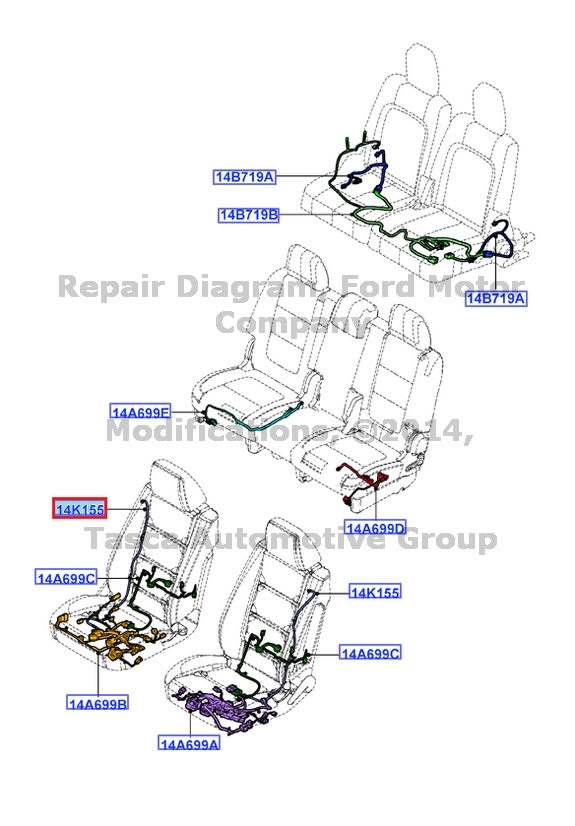 new oem front seat side air bag wiring harness explorer flex f rh ebay com