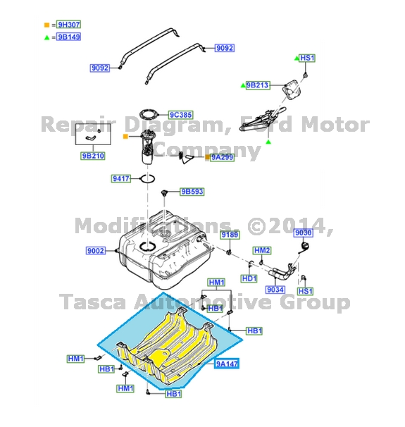 Tasca Ford Cranston >> BRAND NEW OEM FUEL TANK SKID PLATE FORD F250 F350 F450 F550 SUPER DUTY F53 | eBay