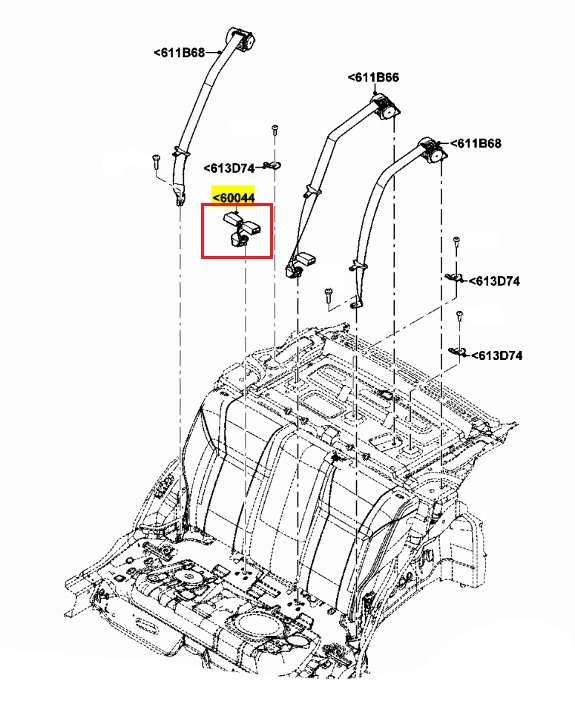Buy Ford Oem Seat Belt Receptacle Be8z5460045aa Image 4 Online