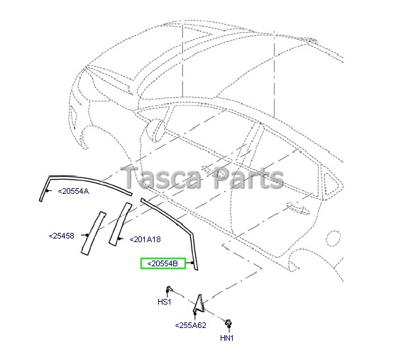 New Oem Lh Side Rear Exterior Door Moulding 2011 2013 Ford Fiesta 5