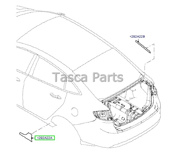 Brand New Ford Fiesta 4dr Oem Rear Rh Pass Side Skirt Shield Be8z