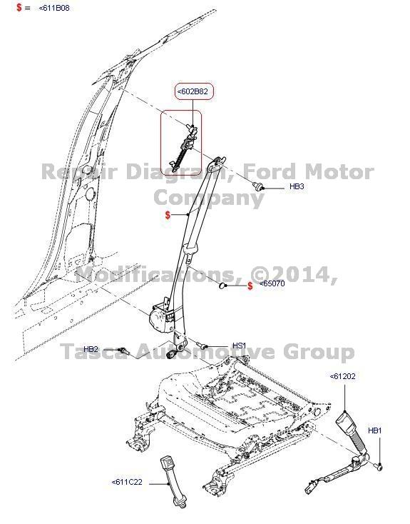 Brand New Oem Rh Lh Seat Belt Adjuster 2011 2013 Lincoln Mks Ford