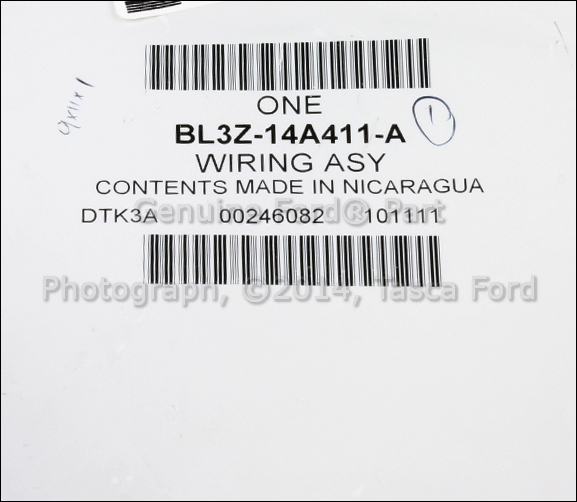 new oem fixed rear view camera wiring assembly ford lincoln  bl3z