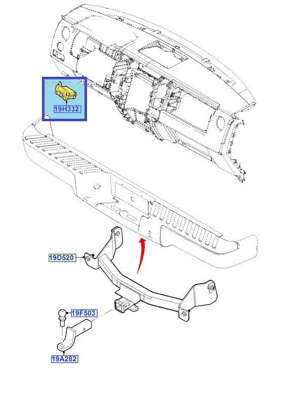 New Oem Trailer Brake Control Module Tbcm 2011 2014 Ford F 150 Bl3z